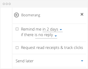 Adding a Reminder in Outlook with Boomerang