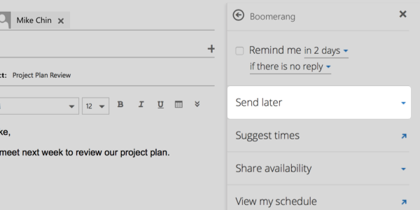 Boomerang for Outlook - Help